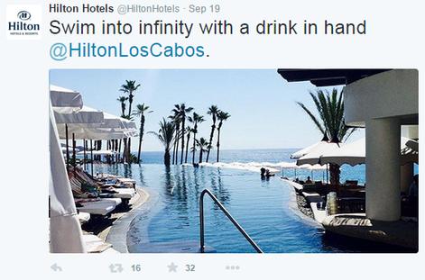 Hotel marketing Hilton hotels Twitter