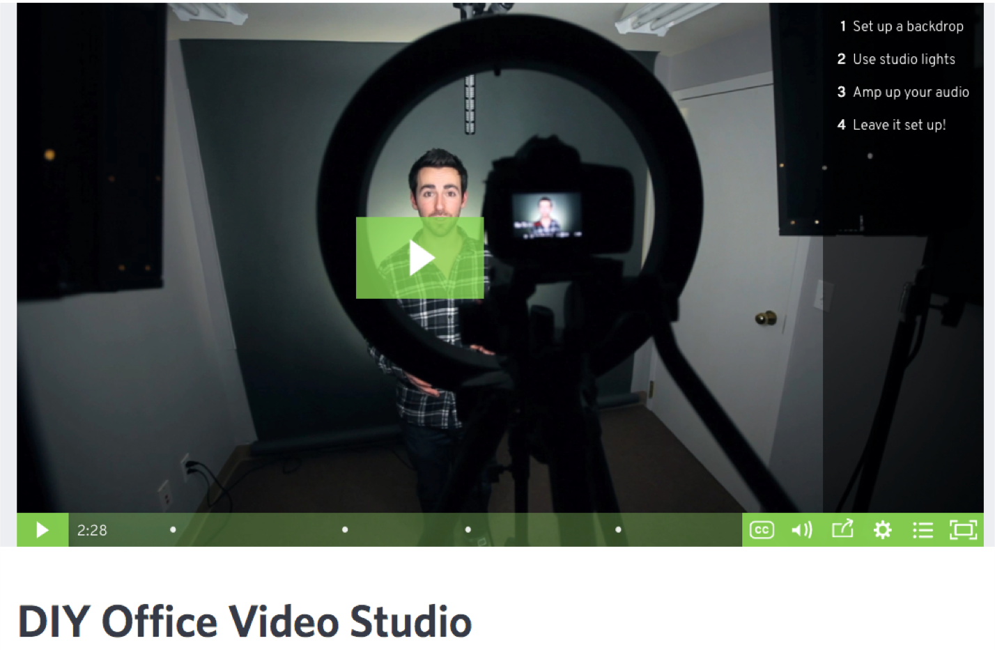 How to build video culture at your company DIY office video studio setup
