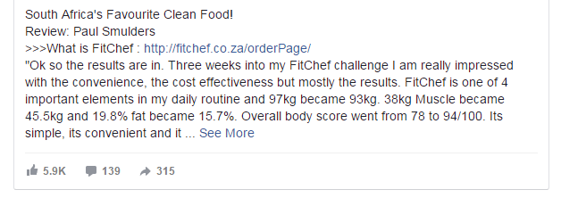 How to compete in Facebook Ads fitness ad example