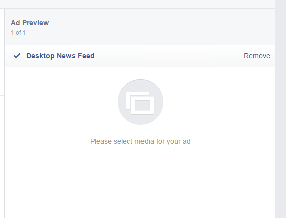 How to create Facebook ads blank ad