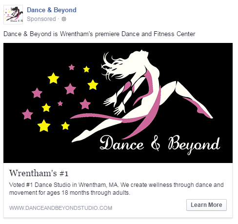 How to create Facebook ads negative space example