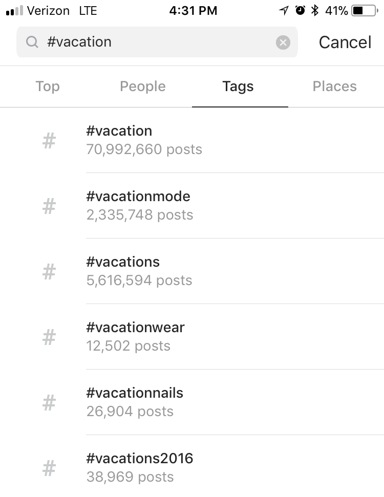 how to find instagram hashtags