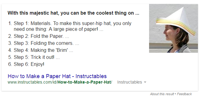 google featured snippet seo