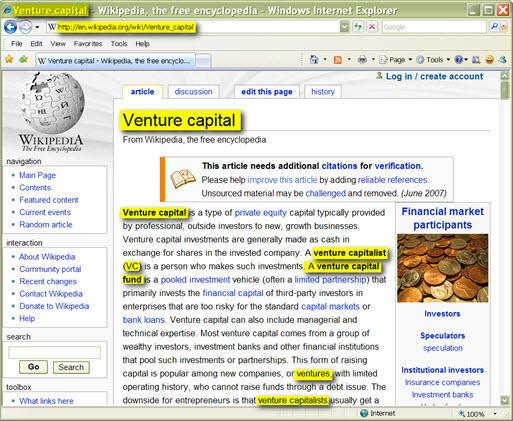 Wikipedia Keyword Rankings