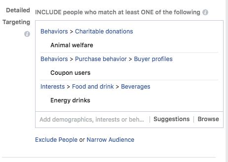 instagram behavior targeting