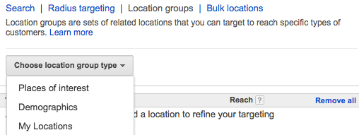 targeting demographics in google adwords