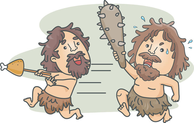 How to write introductions fight or flight response caveman illustration