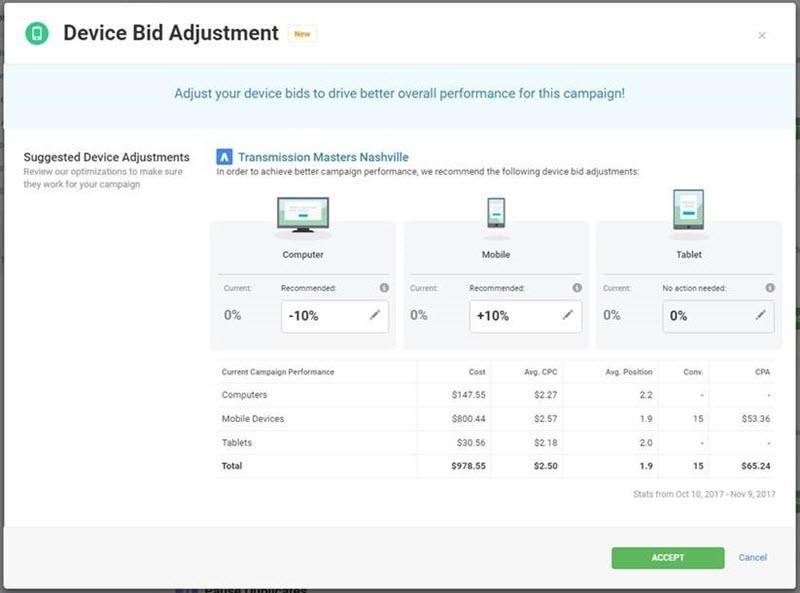 device bid adjustments in wordstream