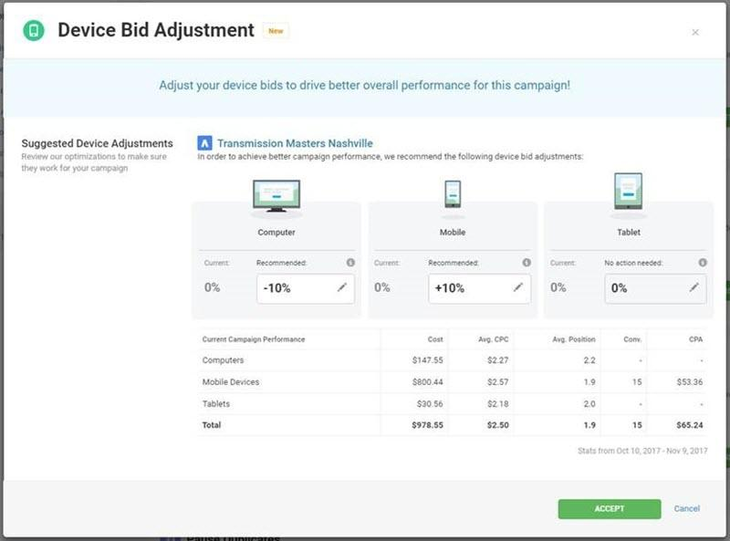 device bid adjustments in wordstream