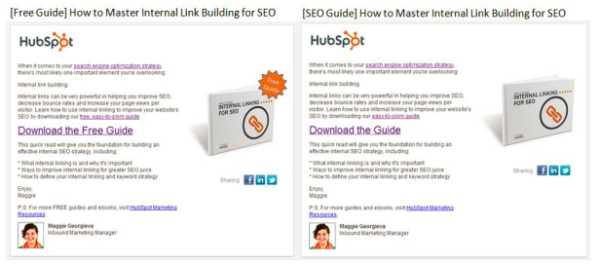 hubspot call to action free test