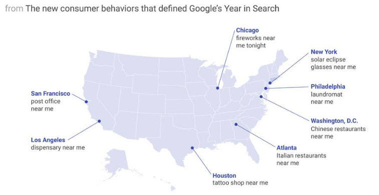 Hyperlocal marketing near-me search examples nationwide google