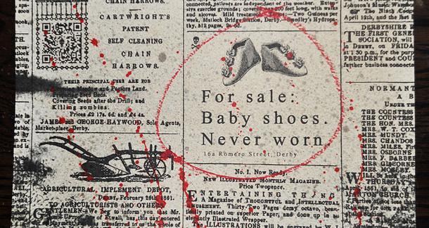 Improve my writing skills baby shoes never worn