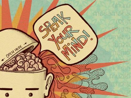 Improve your writing skills speak your mind