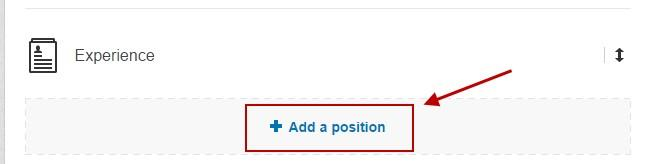Improve your linkedin profile add a position
