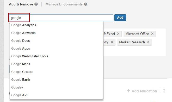 Improve your linkedin profile manage endorsements