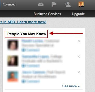 Improve your linkedin profile people you may know box
