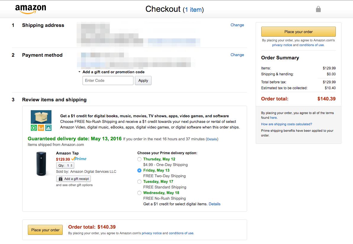 Increase conversions Amazon example