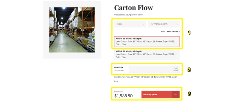 Increase conversions UMH carton flow example