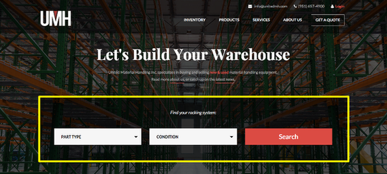 Increase conversions UMH warehouse example
