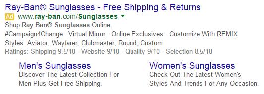 Aumentar as extensões de anúncio de uso on-line de vendas