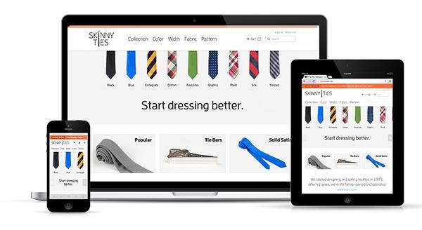 Aumentar o exemplo de comércio eletrônico de design responsivo on-line de vendas