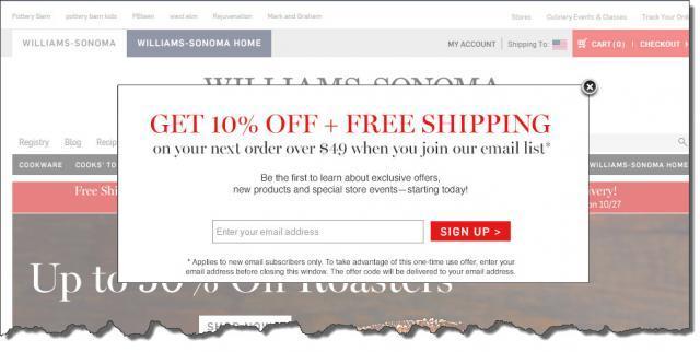 Aumentar as vendas online lançar uma oferta opt-in