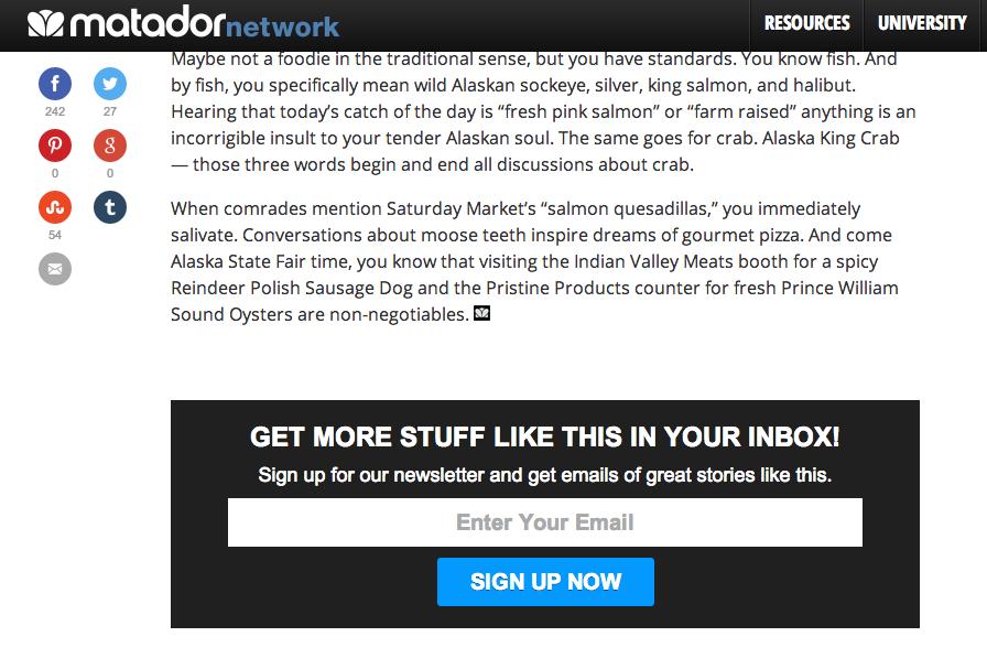 increasing newsletter subscribers