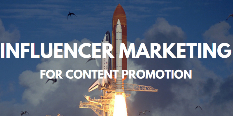 Influencer marketing for content promotion