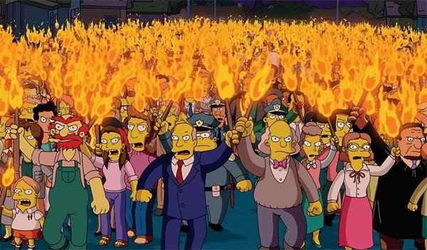 Influencer marketing Simpsons angry mob