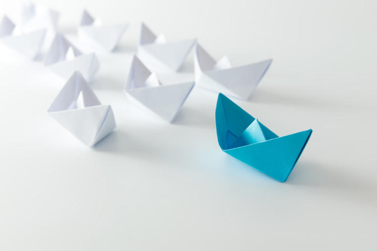 Influencing skills standing out from the crowd concept