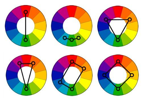 Infographic templates color wheels