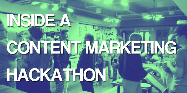Inside a content marketing hackathon