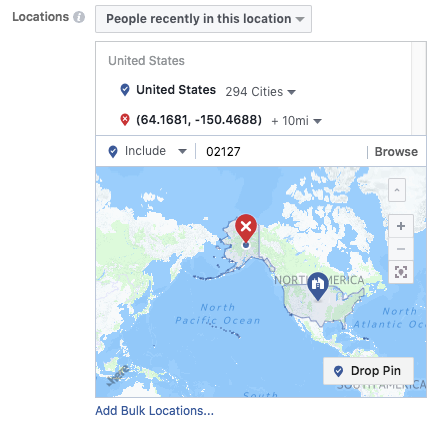 location targeting for instagram ads