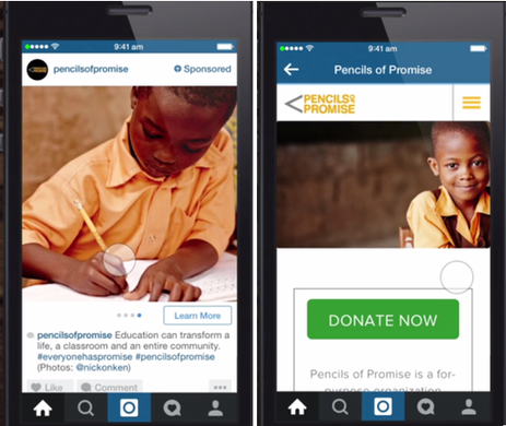 instagram advertising example of carousel ad