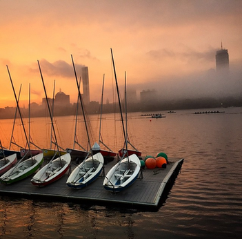 instagram advertising photograph of the charles river in boston posted on instagram