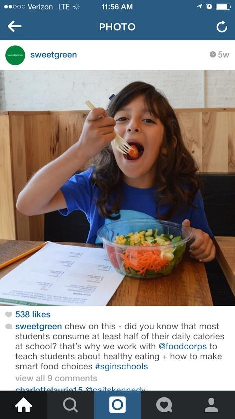 sweetgreen instagram