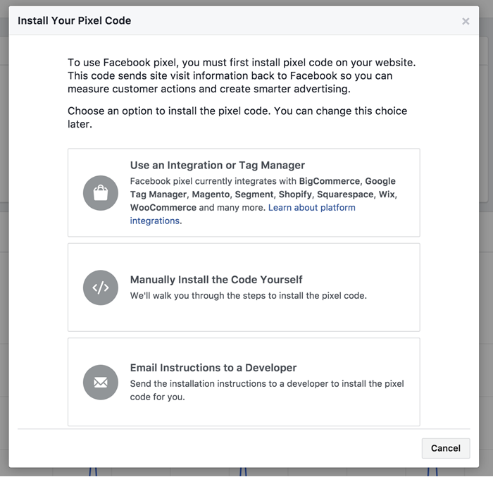 instructions for installing your facebook pixel