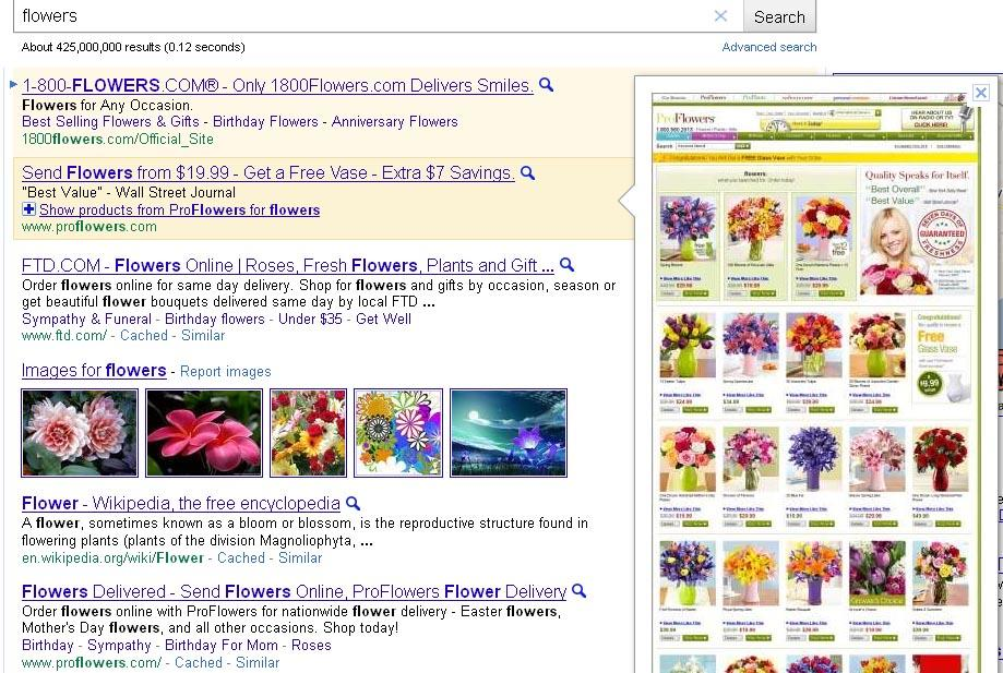 AdWords Instant Previews