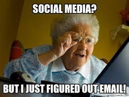 International AdWords grandma's first day on the internet meme