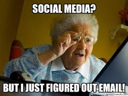 International AdWords grandma's first day on the internet meme