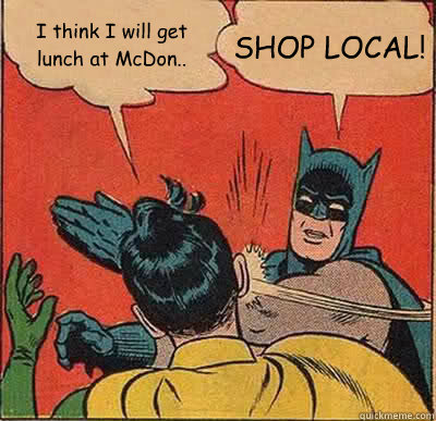 International AdWords shop local Batman slap meme