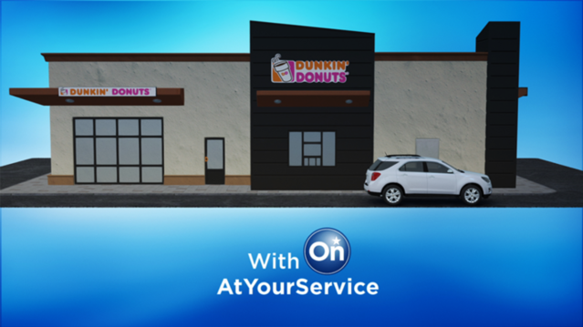 Internet of Things OnStar AtYourService Dunkin Donuts partner