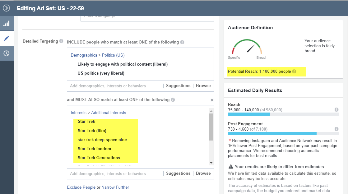 targeting strategies for facebook ads