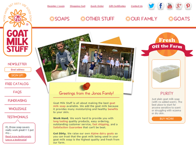 Is email marketing effective Goat Milk Stuff homepage