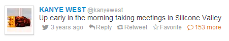 Kanye West's First Tweet