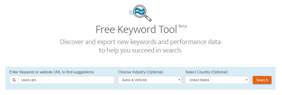 Keyword analytics WordStream Free Keyword Tool