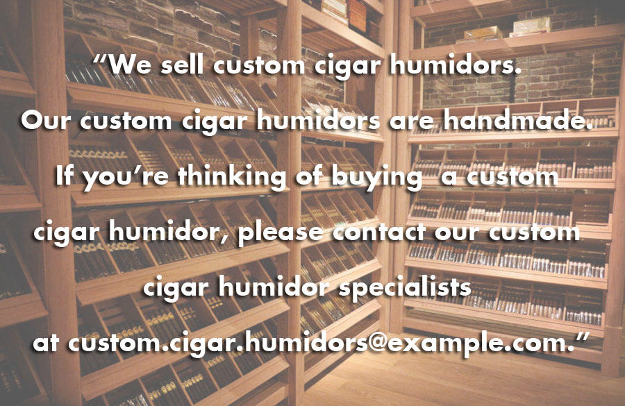 Keyword density Google cigar humidor example