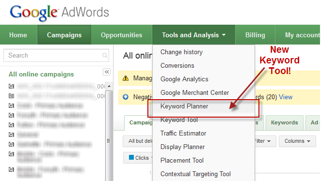 adwords keyword planner explained how to use keyword planner Google AdWords Tool keyword planner