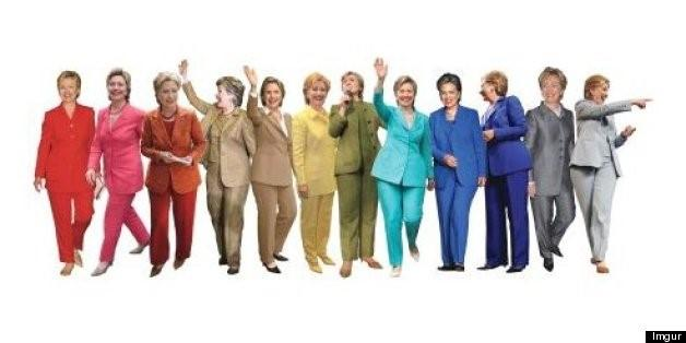 hillary suit trends