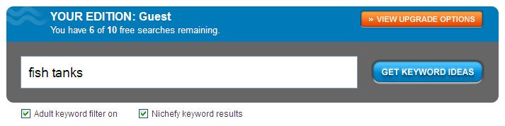WordStream's Free Keyword Finder Tool